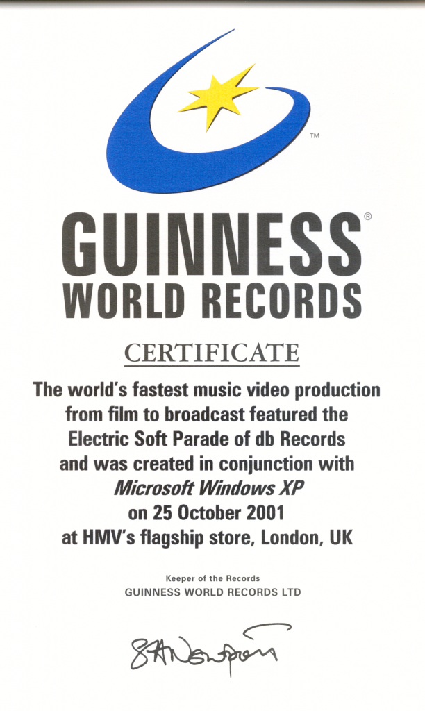 Cover Image for World's Fastest Music Video Production - Guinness World Record